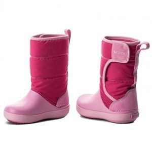 NWT Crocs Kids' LodgePoint Snow Winter Boots